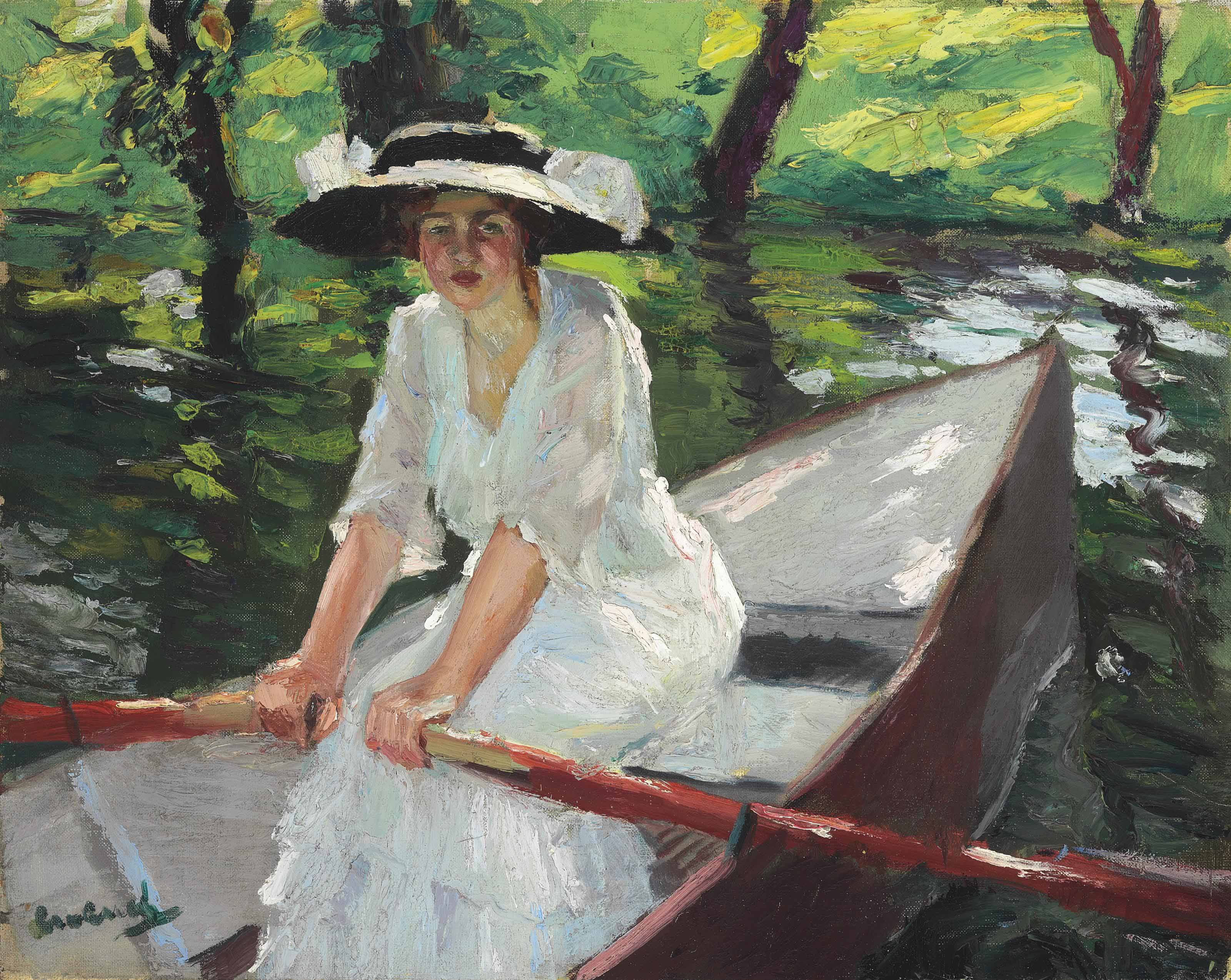 Woman in Rowboat
