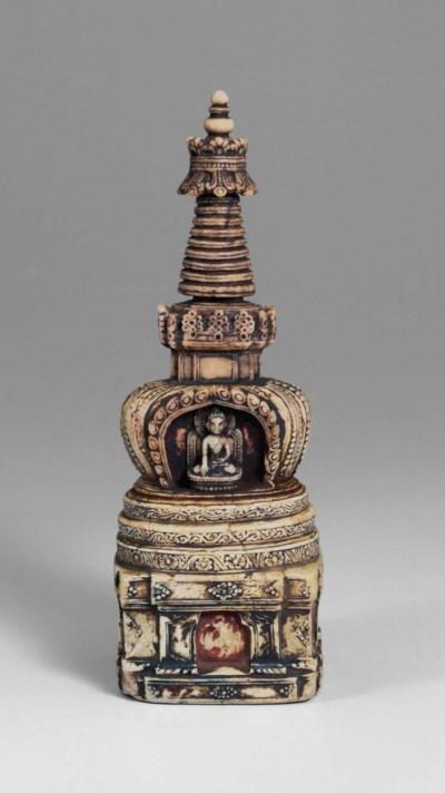 A rare stone stupa