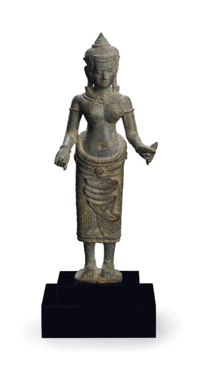 A bronze figure of Uma