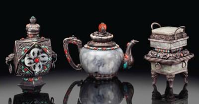 THREE MONGOLIAN JADE, TURQUOIS