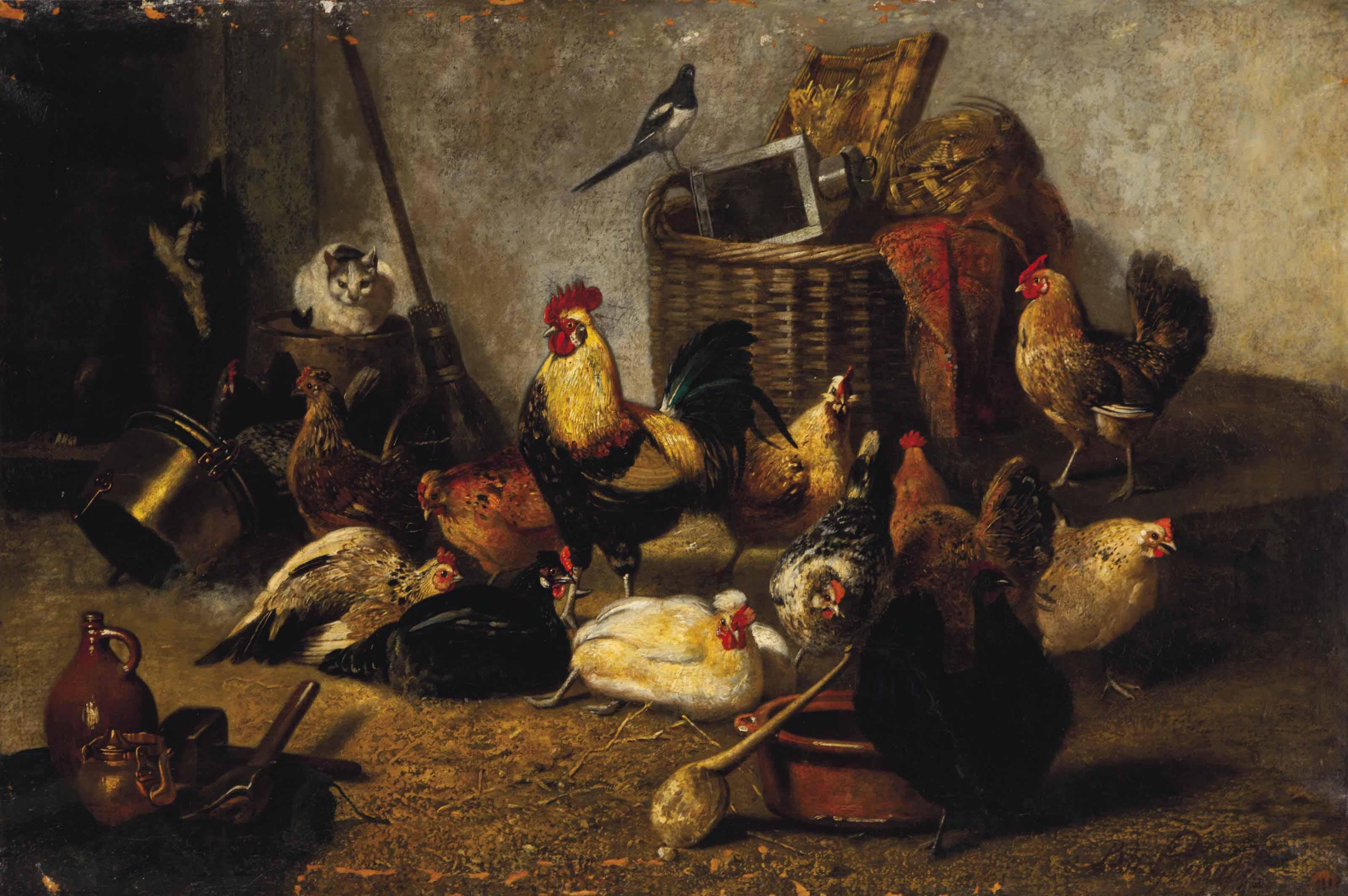 A farmyard gathering