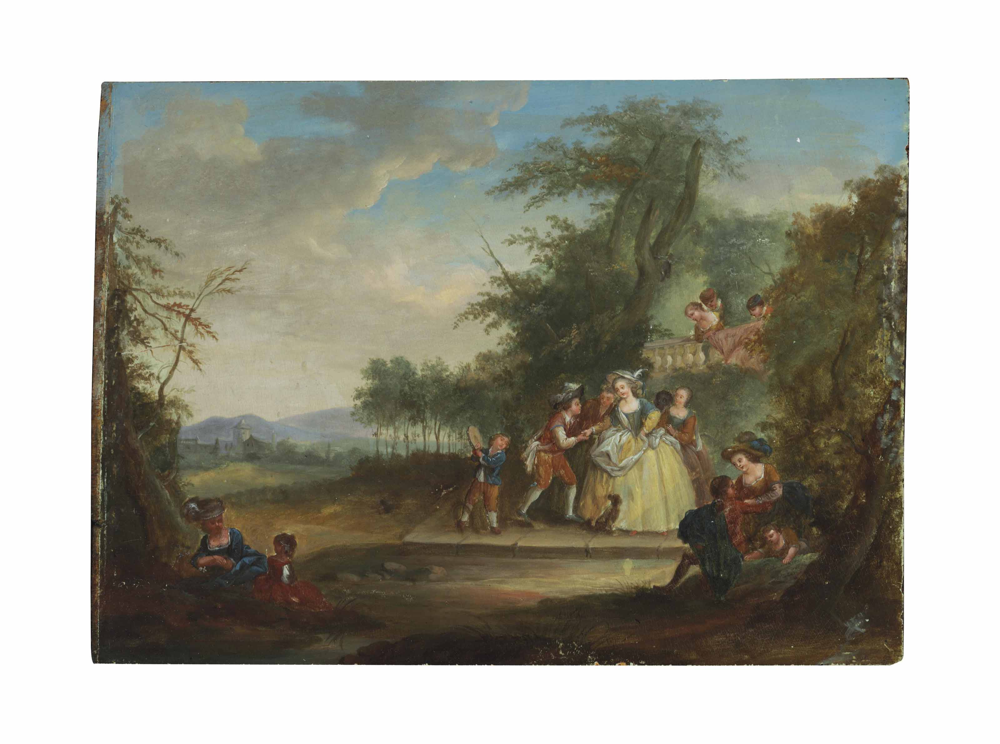 Fêtes Champêtres; and a companion painting