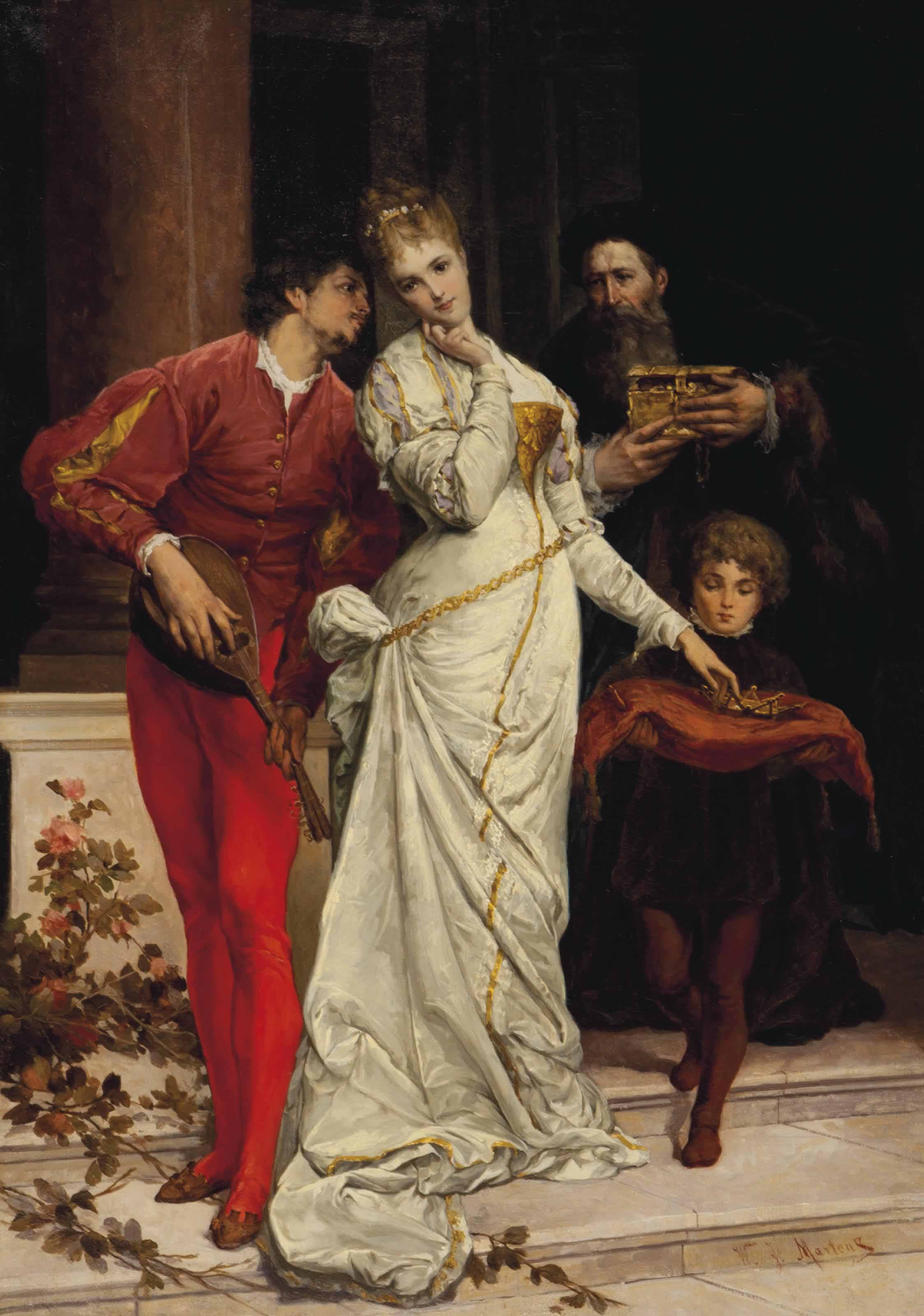 An elegant courtship