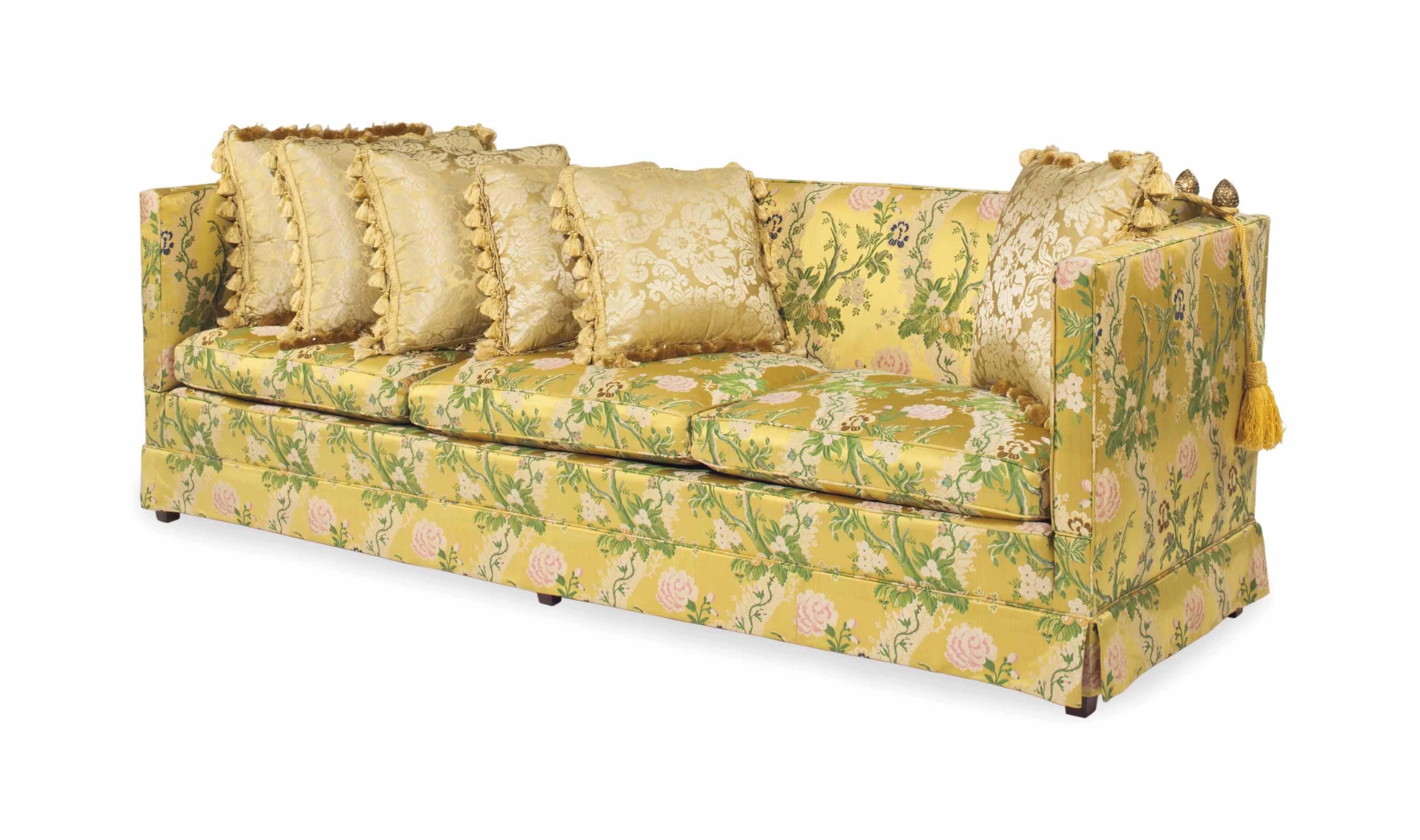 A Knole Style Sofa Late 20th Century
