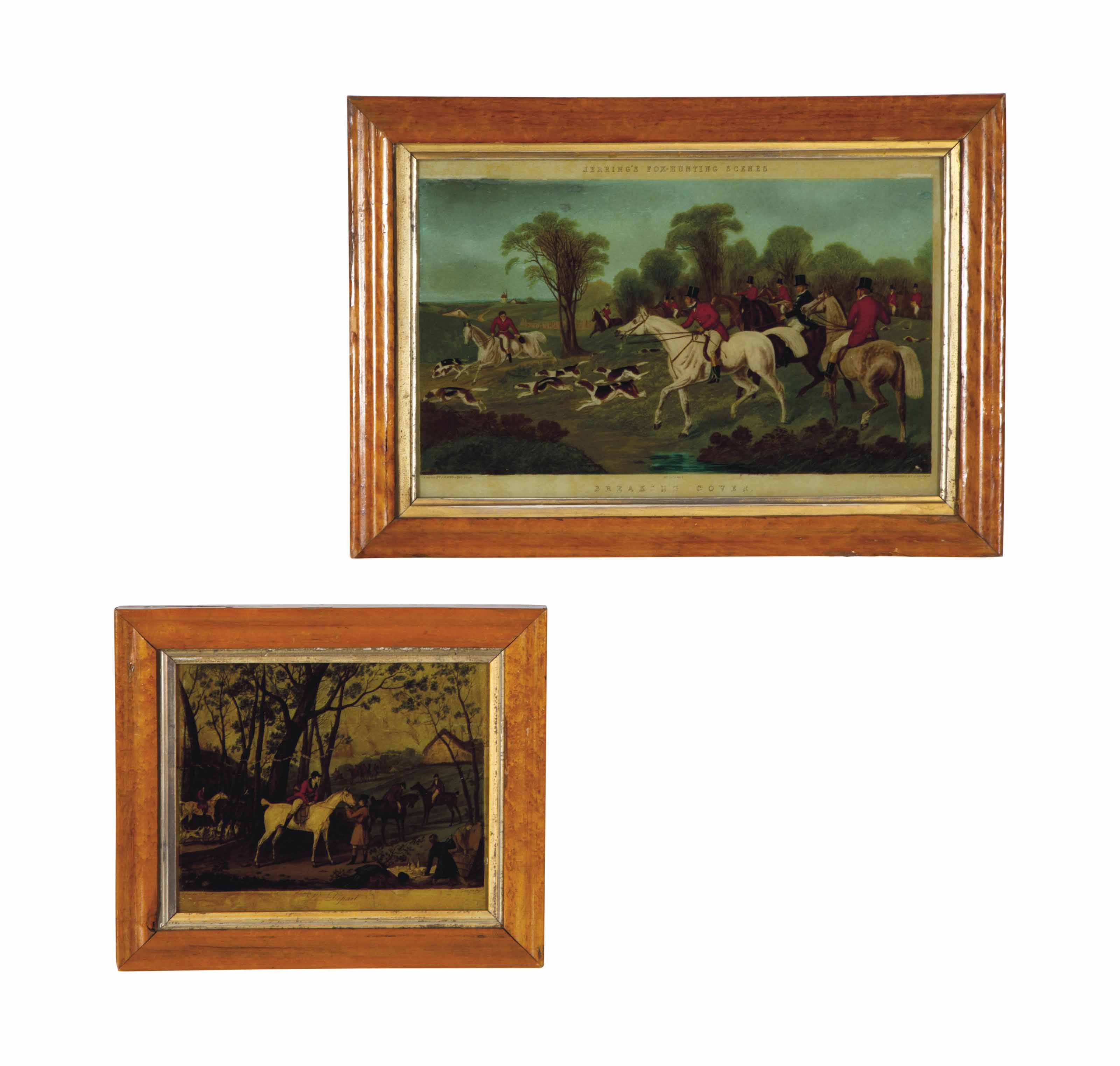 A GROUP OF SIX FRAMED ENGRAVIN