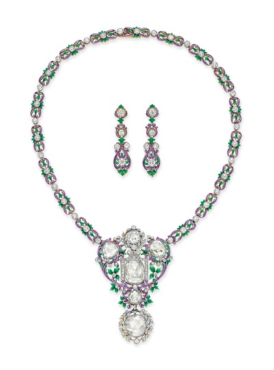 A SET OF BELLE ÉPOQUE DIAMOND