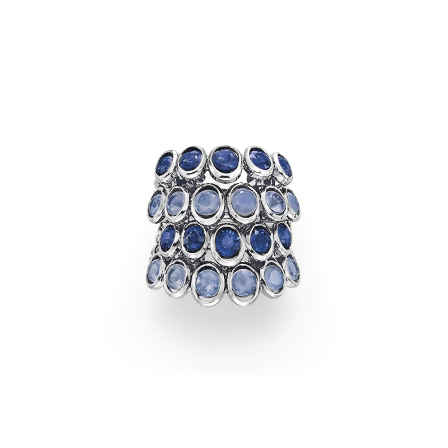 """A SAPPHIRE AND CHALCEDONY """"QUATRE CORPS"""" RING, BY RENÉ BOIVIN"""