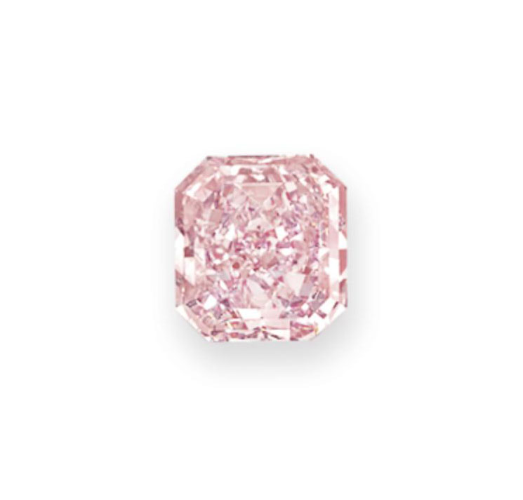 AN IMPORTANT COLORED DIAMOND AND DIAMOND RING, BY HARRY WINSTON