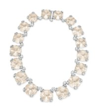 """A LIGHT SMOKY TOPAZ AND DIAMOND """"HORSEBIT COCKTAIL ROUND"""" NECKLACE, BY GUCCI"""