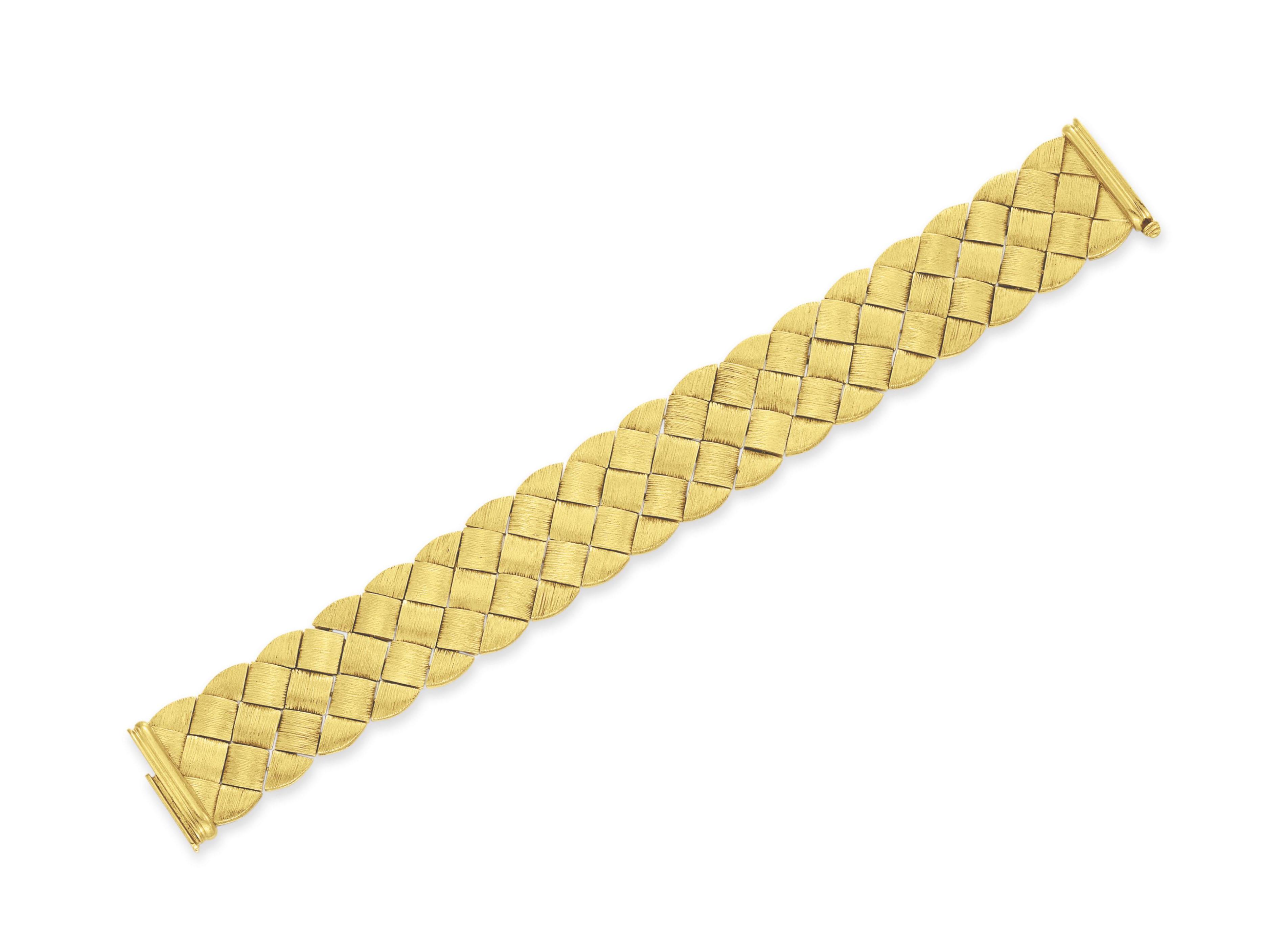 A GOLD BRACELET, BY HENRY DUNAY