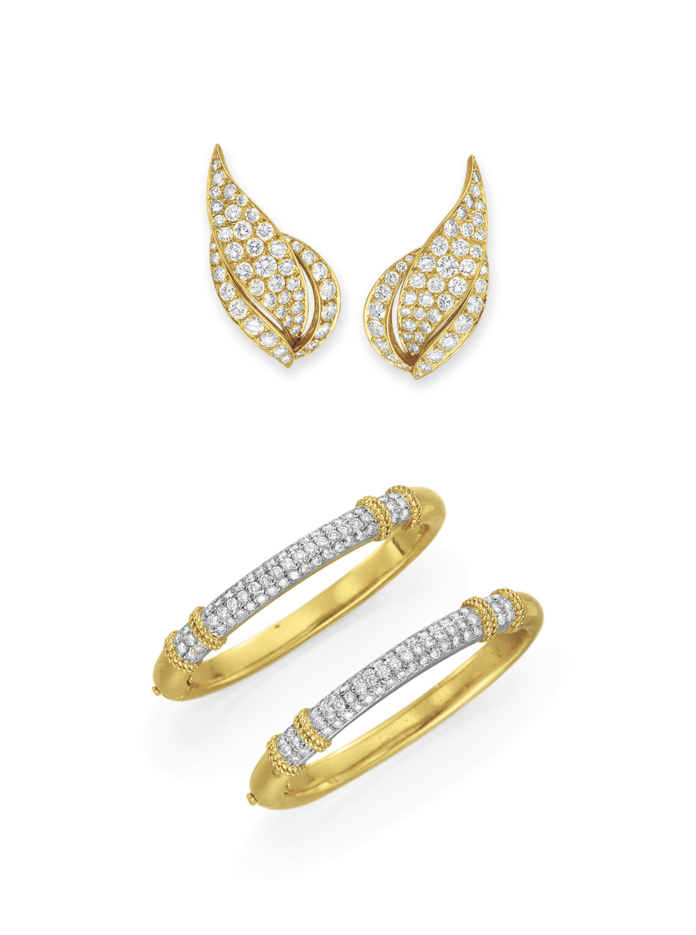 A GROUP OF DIAMOND AND GOLD JEWELRY, BY FRED