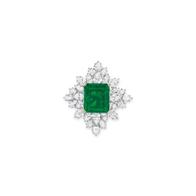 A SUPERB EMERALD AND DIAMOND B
