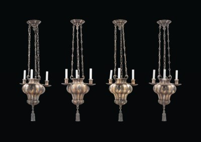 A SET OF FOUR AMERICAN SILVERE