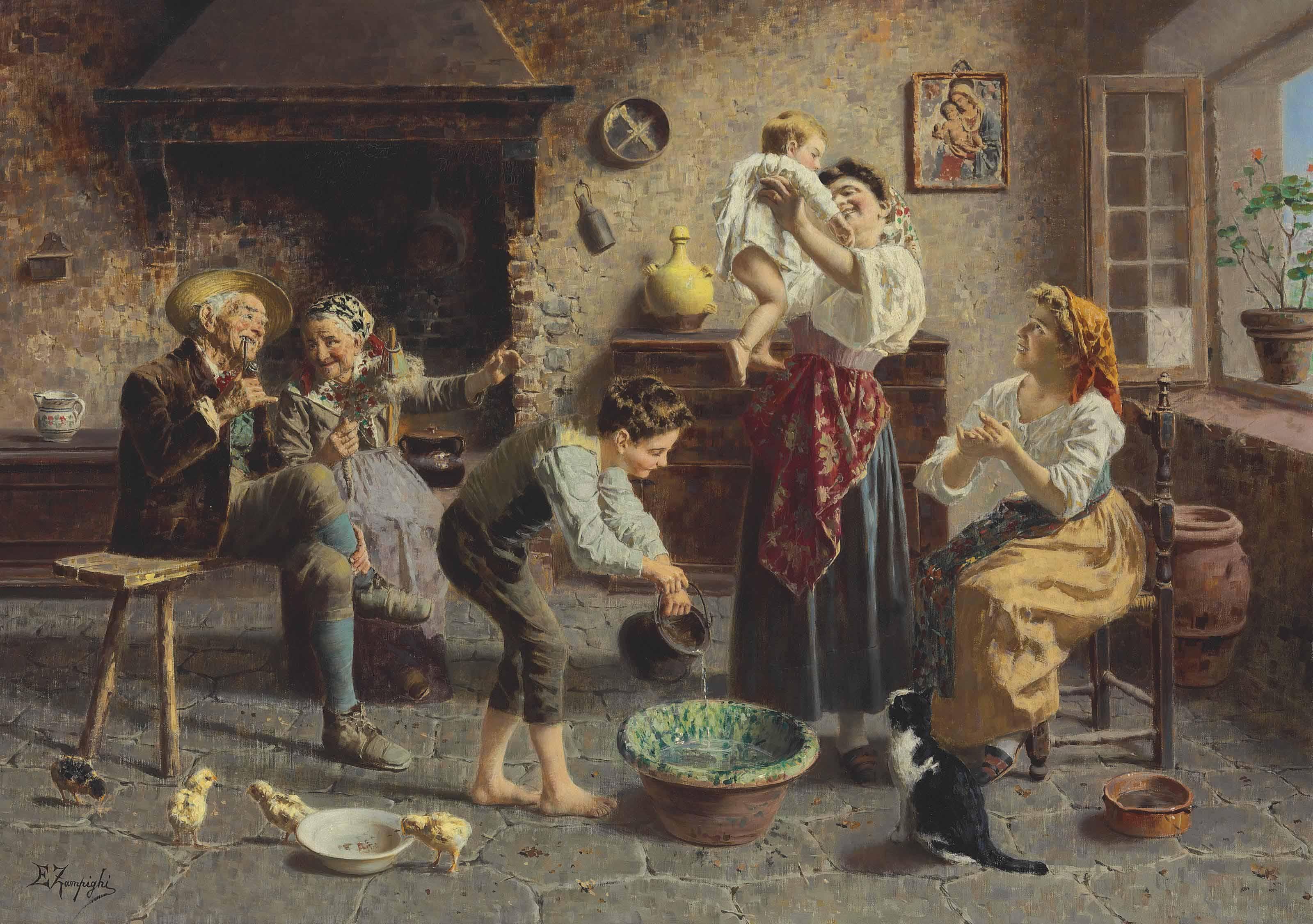 Eugenio Edouardo Zampighi (Italian, 1855-1944)