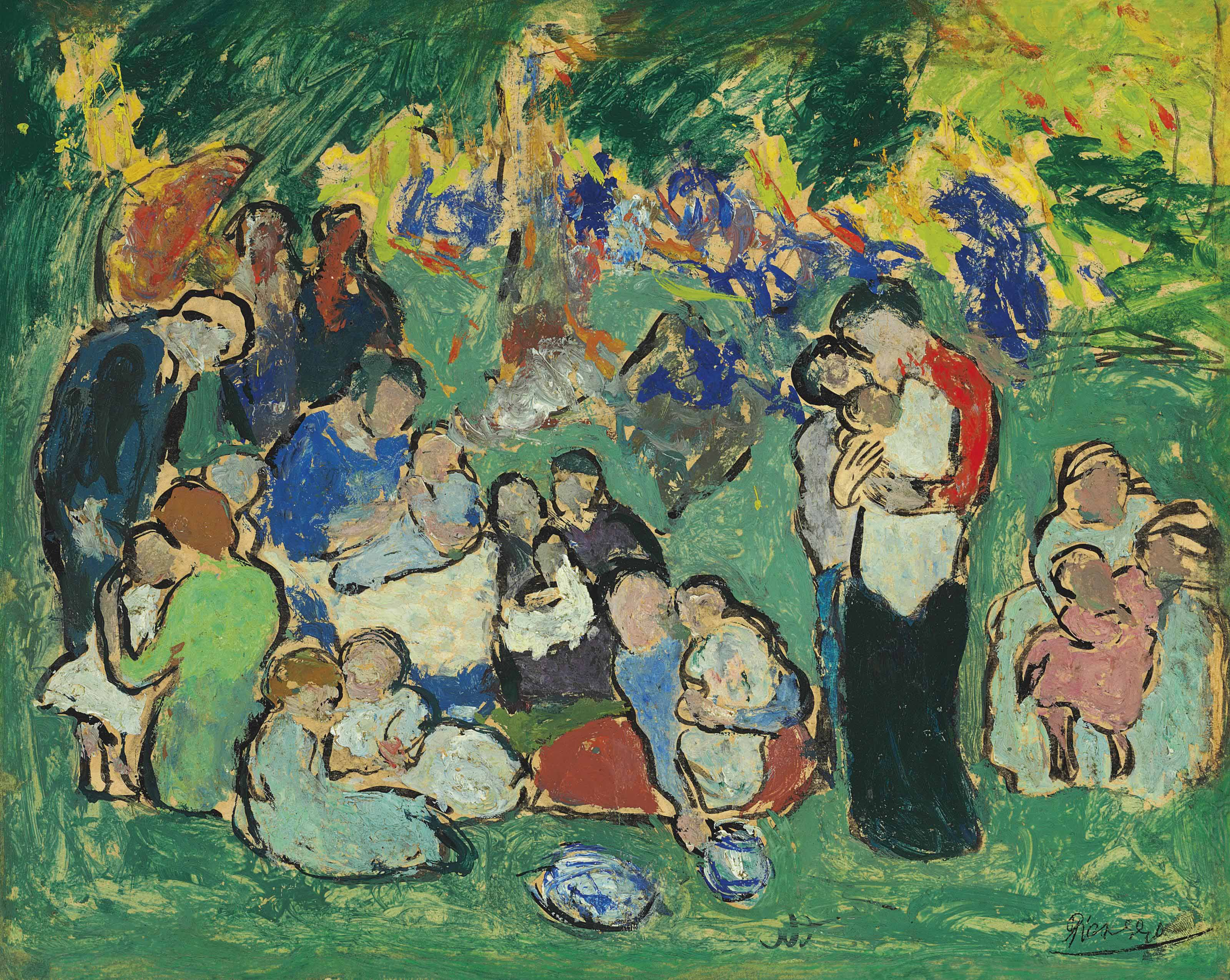 Pablo Picasso (1881-1973) | Enfants dans le jardin du Luxembourg ...