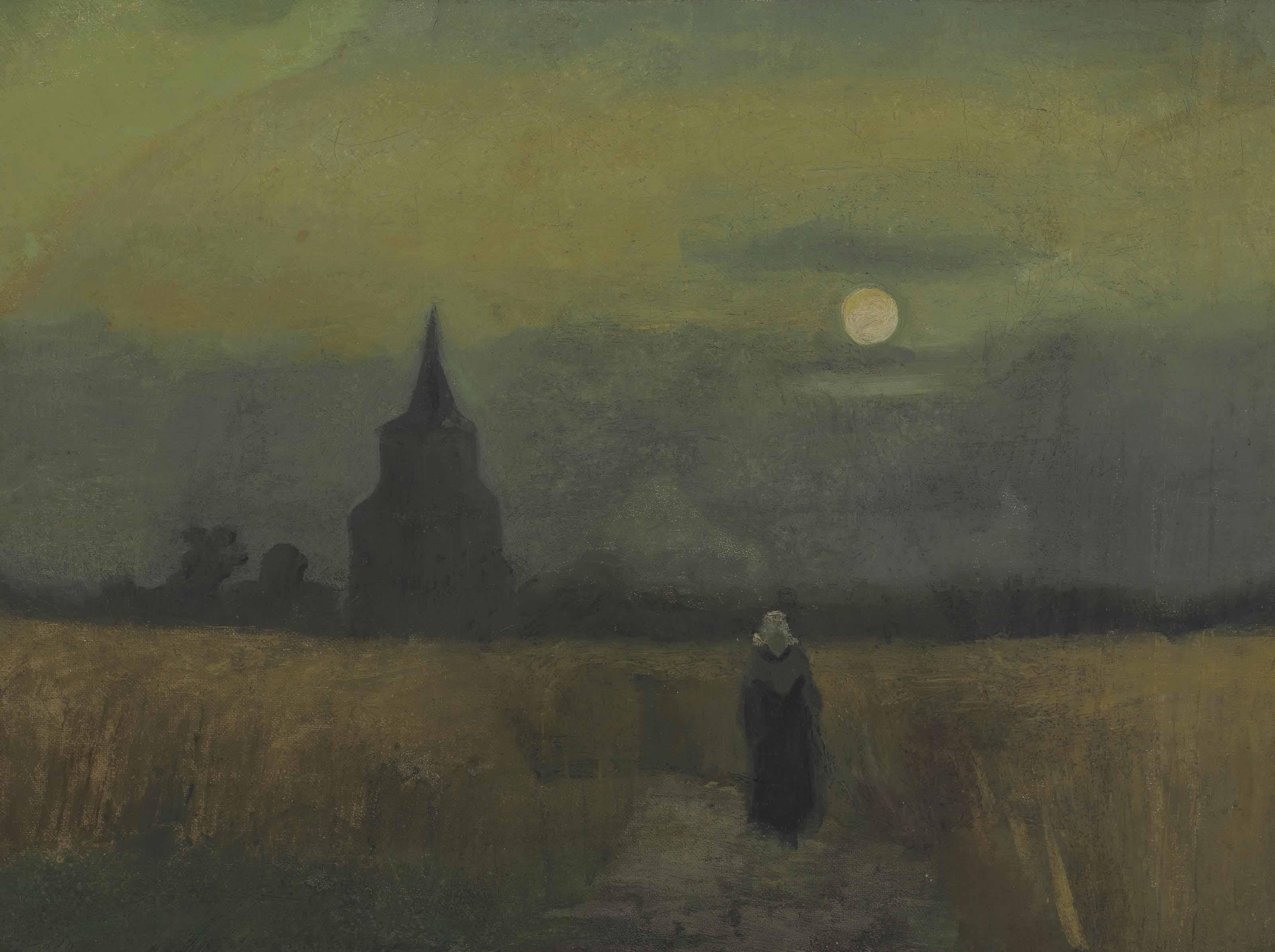 Oude Toren bij Zonsondergang