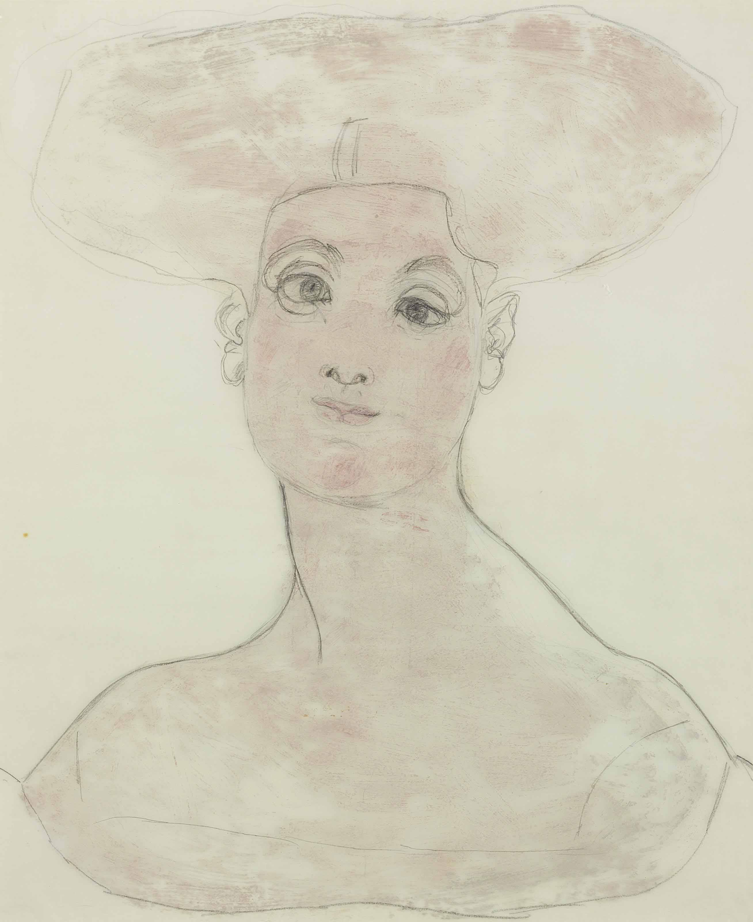Woman with Billowing Hair
