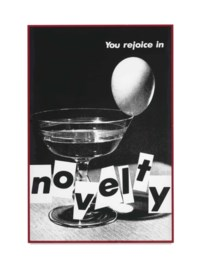 Untitled (You Rejoice in Novelty)
