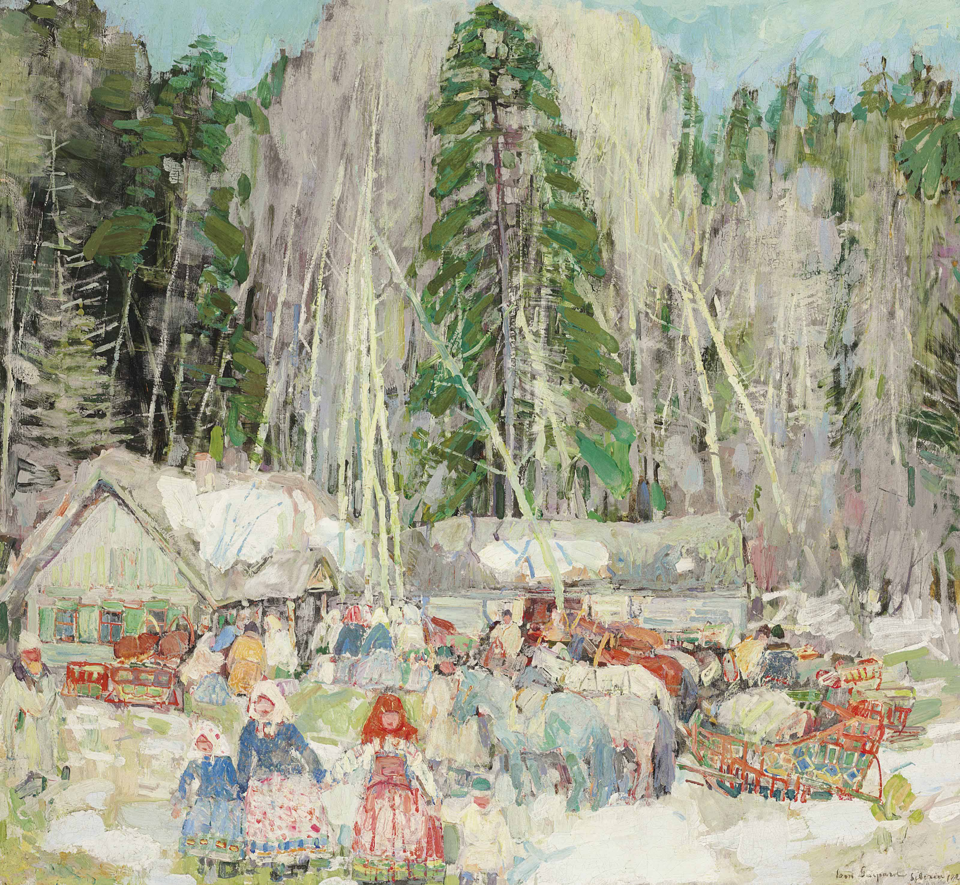 Peasant Gathering--Siberia