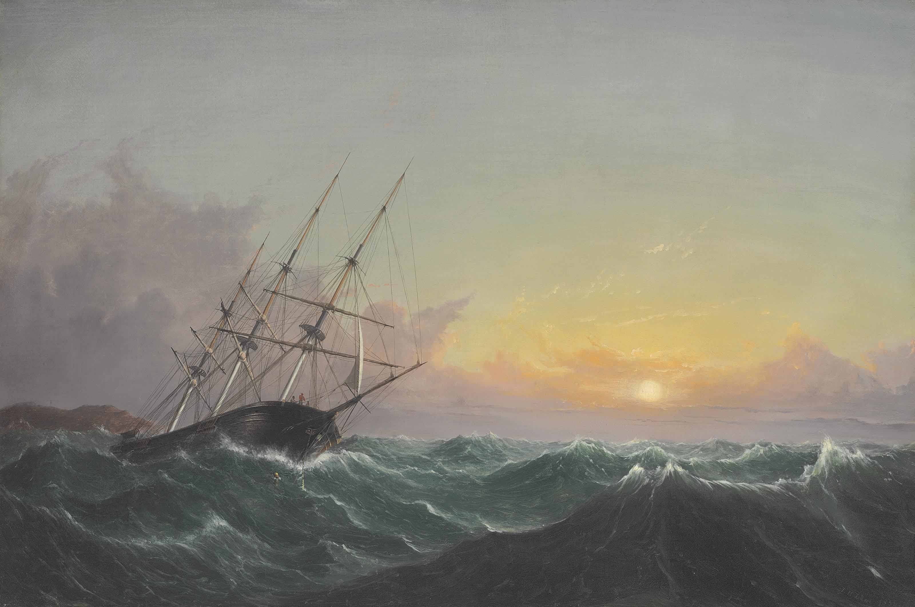 A Storm, Breaking Away, Vessel Slipping Her Cable
