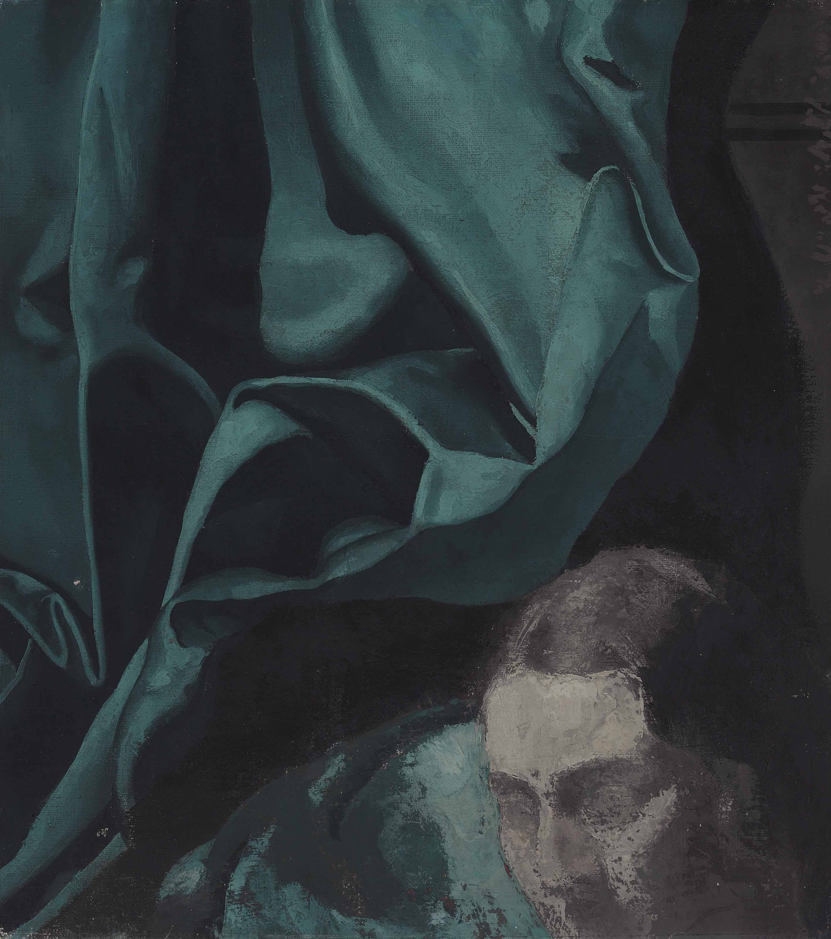 Fragment, Head and Drapery (Esther H. Sawyer)