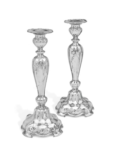A PAIR OF AMERICAN SILVER MART
