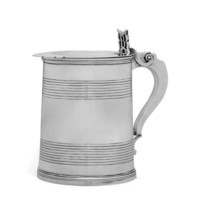 AN AMERICAN SILVER TANKARD, DESCENDED FROM COMMODORE BARRY