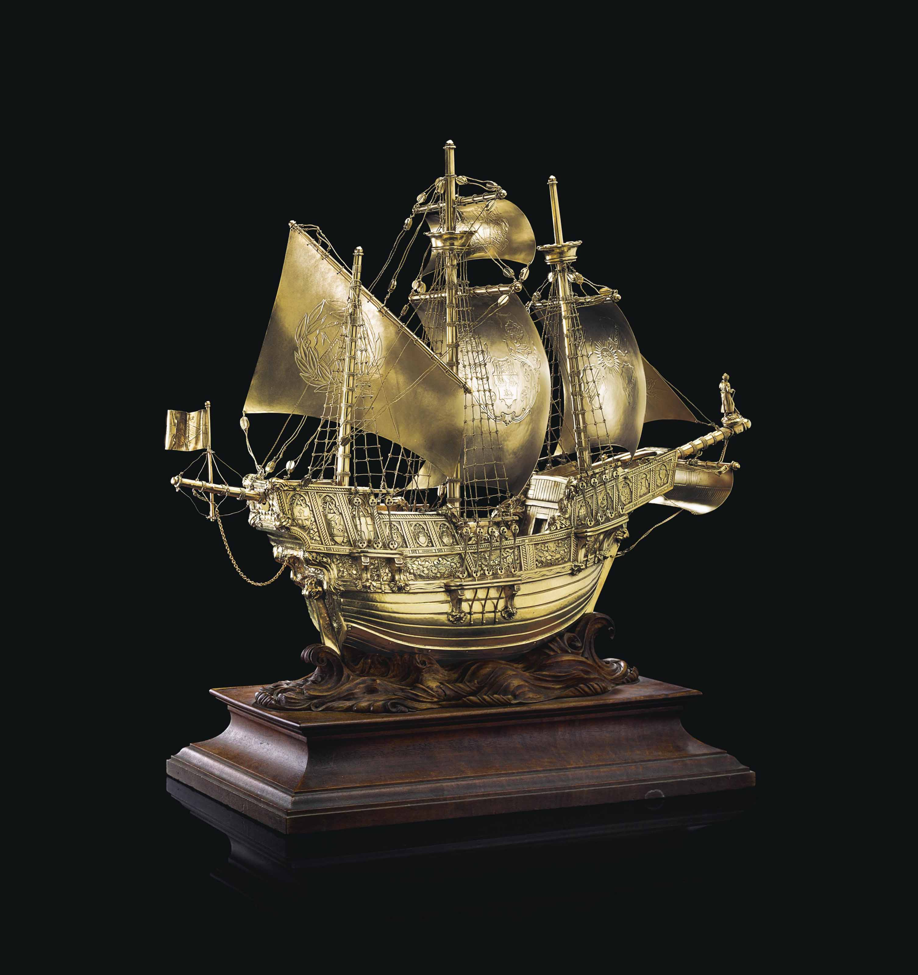 THE GOOD SHIP SAINT ANDREW: AN IMPORTANT GEORGE V SILVER-GILT NEF