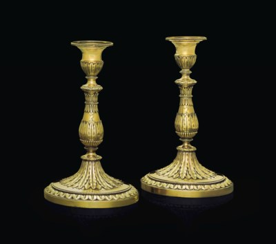 A PAIR OF REGENCY SILVER-GILT