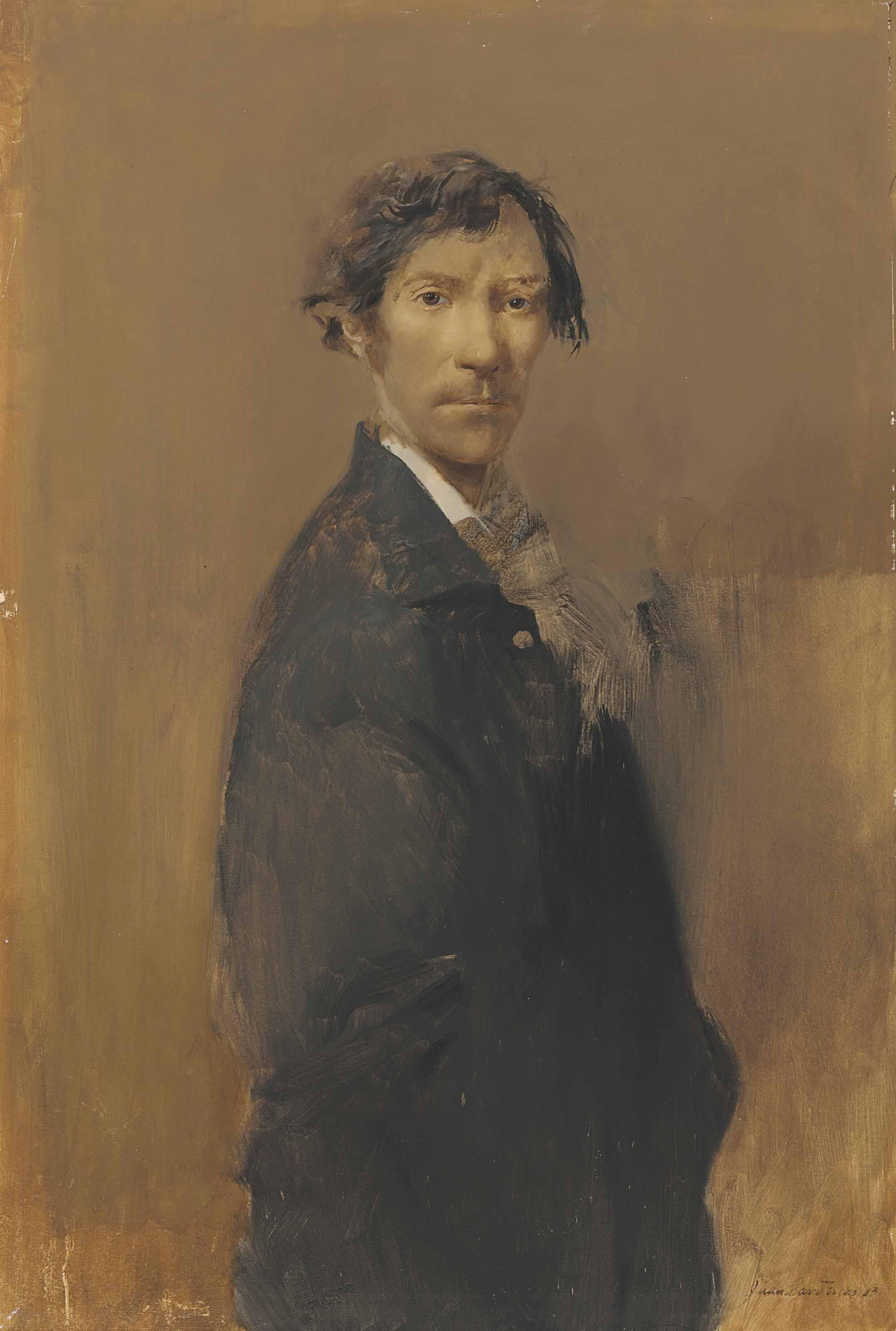 Self Portrait with Black Suit