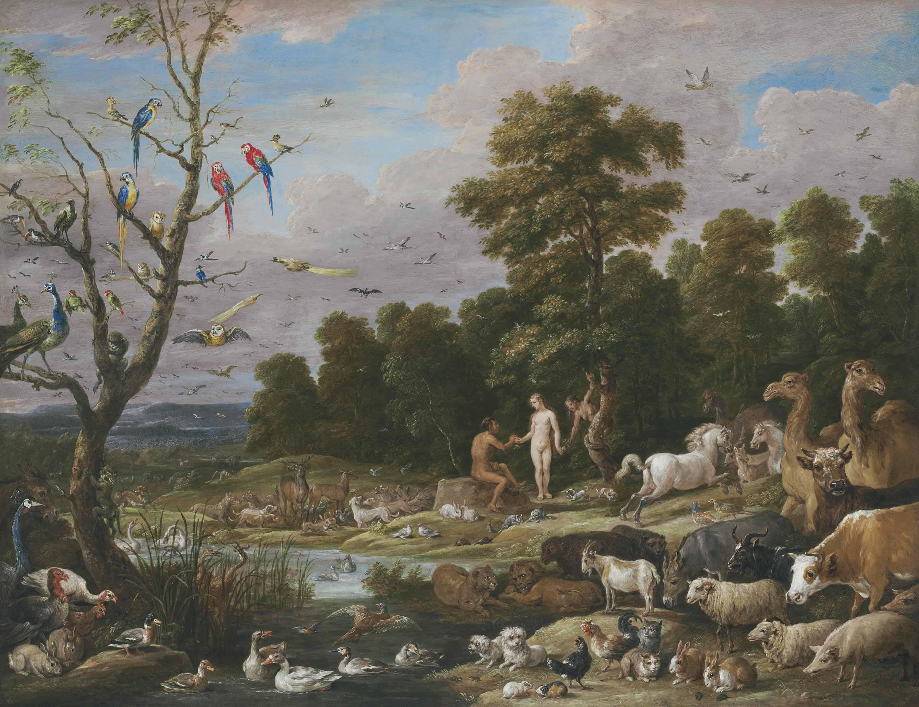 David Teniers II (Antwerp 1610-1690 Brussels) | Adam and Eve in the ...