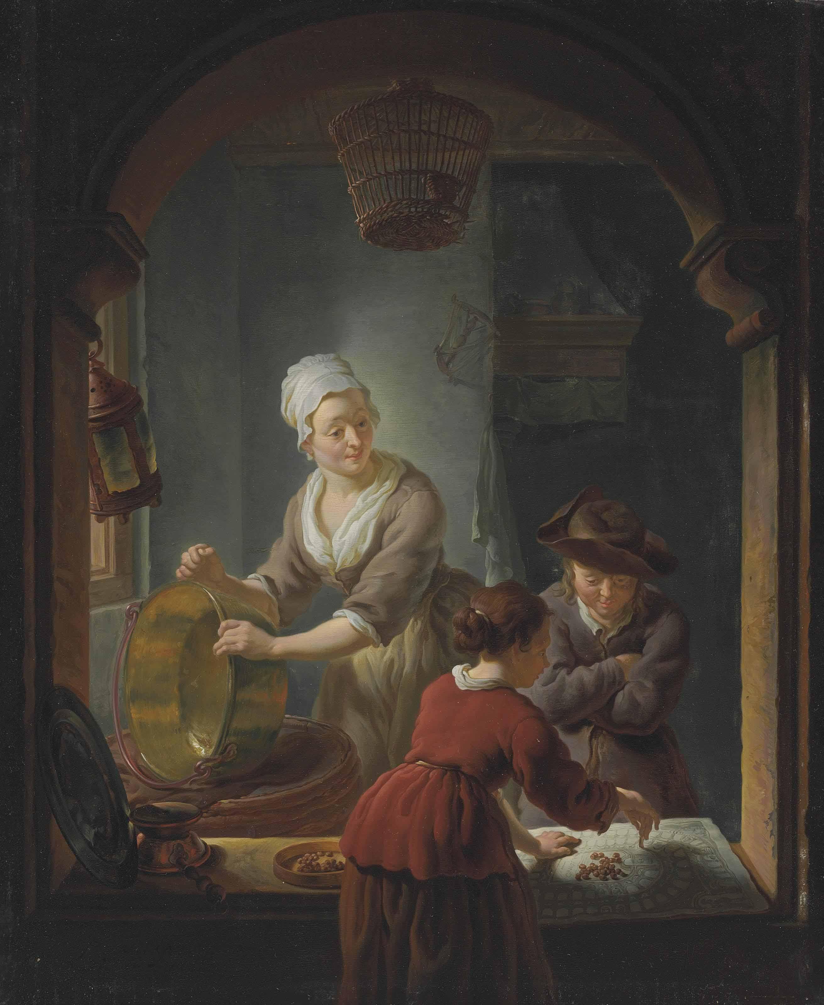 Kitchen Art Leiden.Louis De Moni Breda 1698 1771 Leiden An Interior With A Kitchen