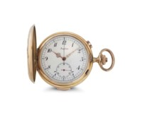 Angelus. An 18k Pink Gold Quarter Repeating Hunter Case Keyless Lever Chronograph Watch