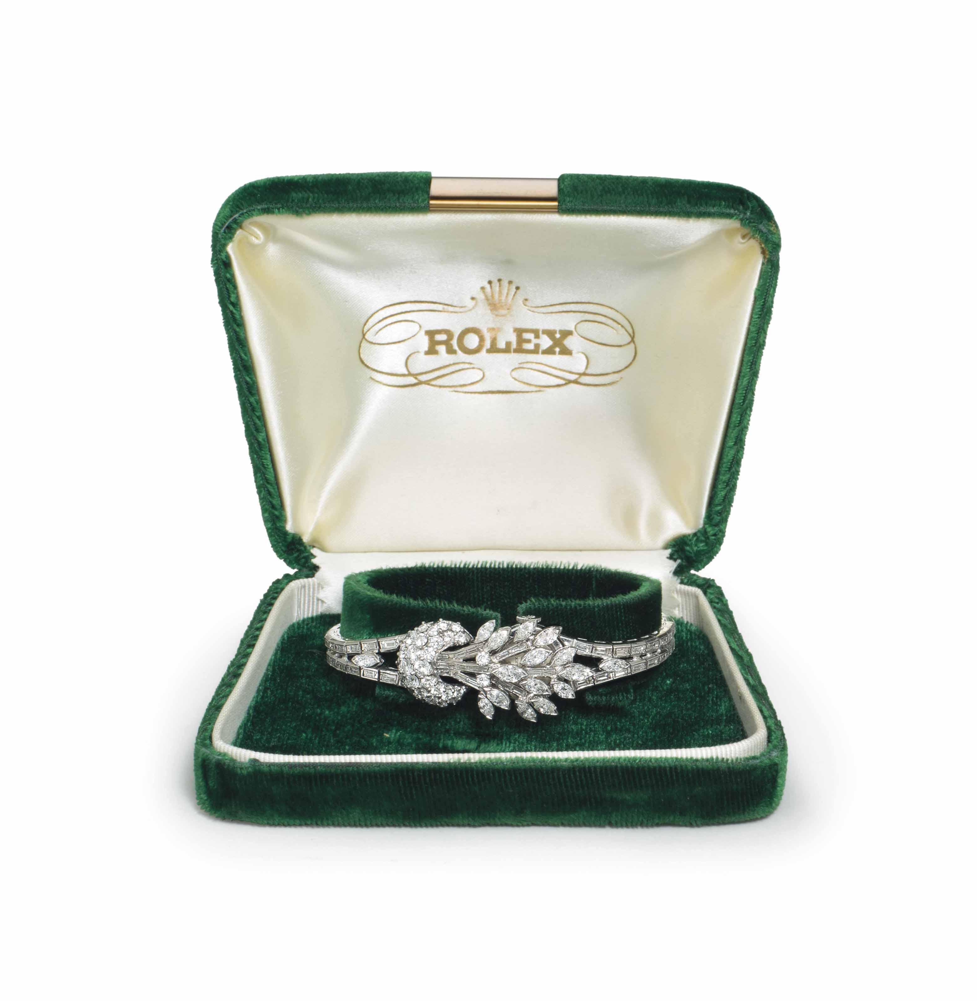 Rolex. A Lady's Very Fine Plat