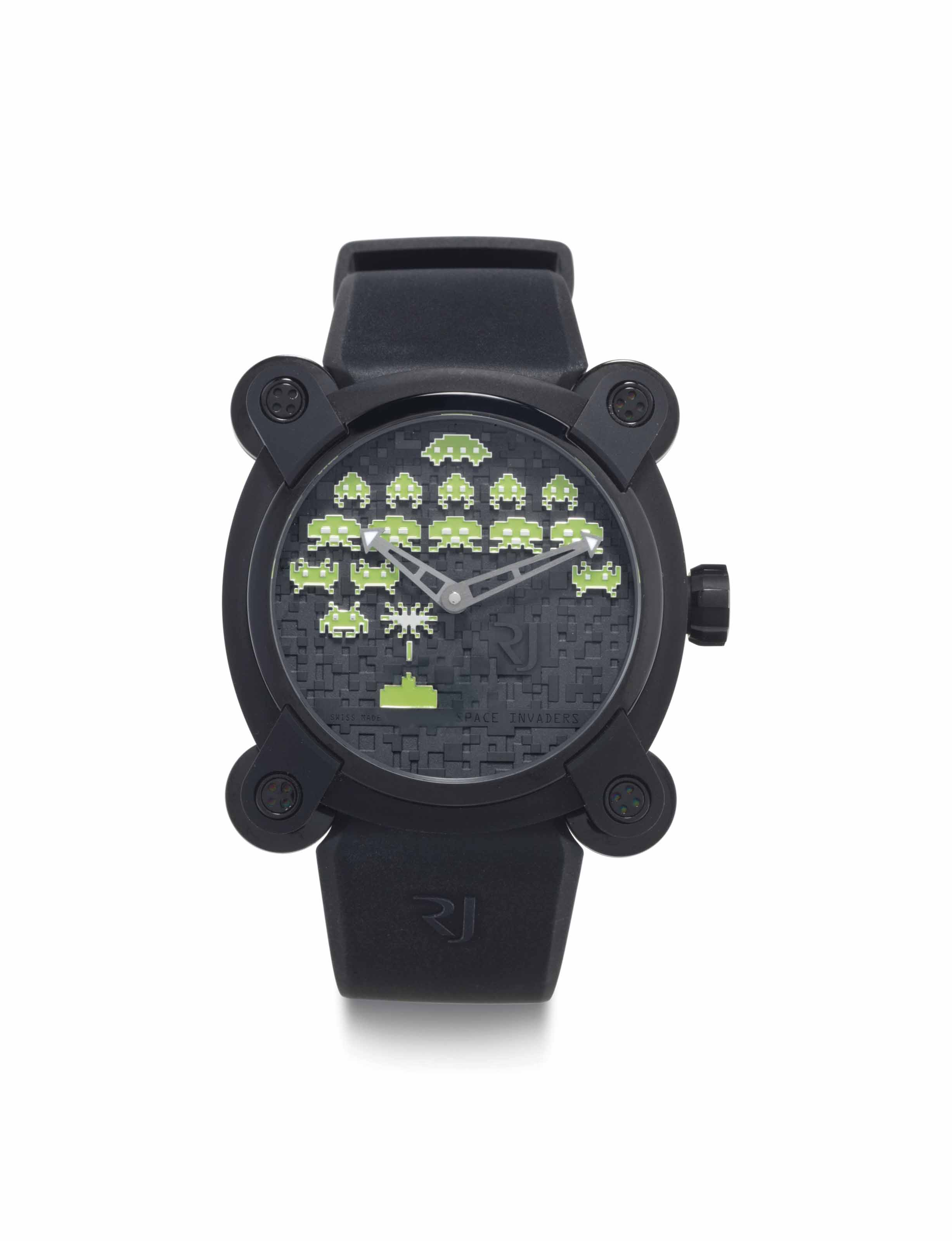 Romain Jerome. A Limited Edition PVD-Coated Stainless Steel Automatic Wristwatch