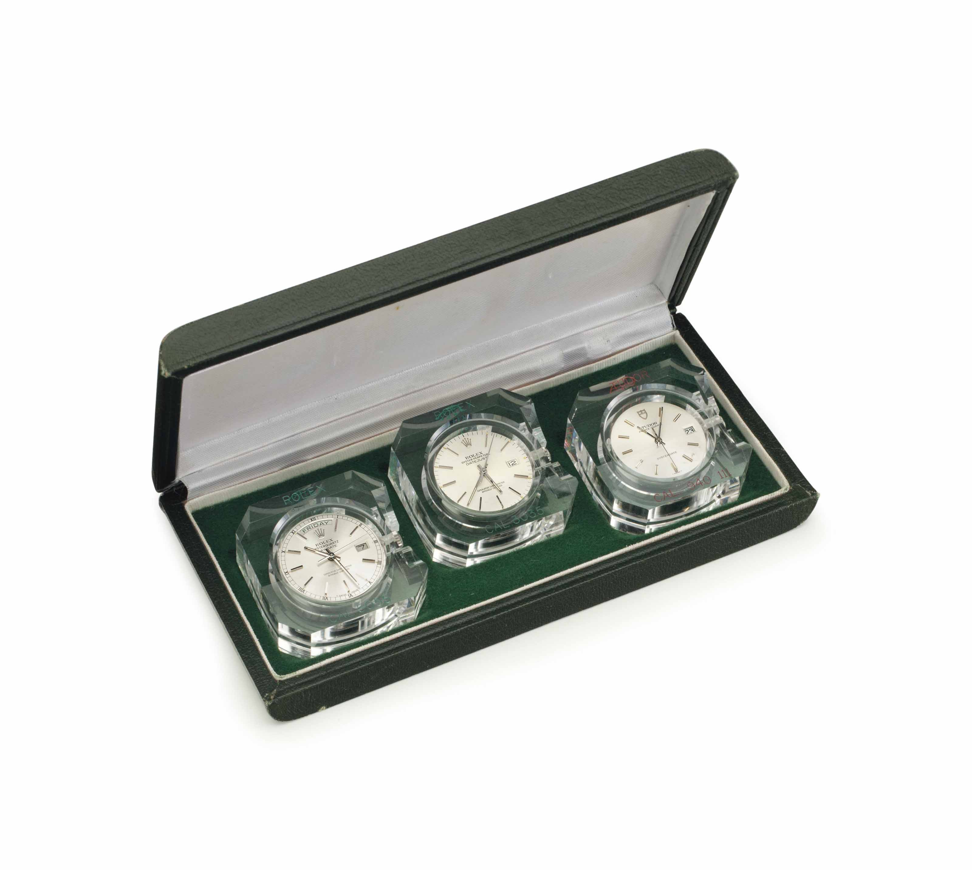 Rolex and Tudor. A Set of Movements for Point of Sale Presentation