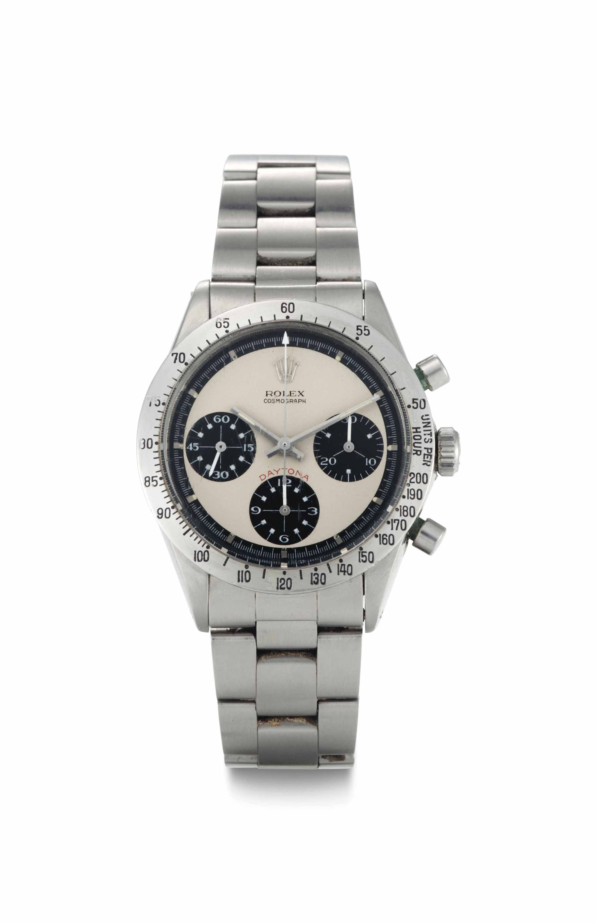 Rolex. A Rare Stainless Steel Chronograph Wristwatch with Bracelet