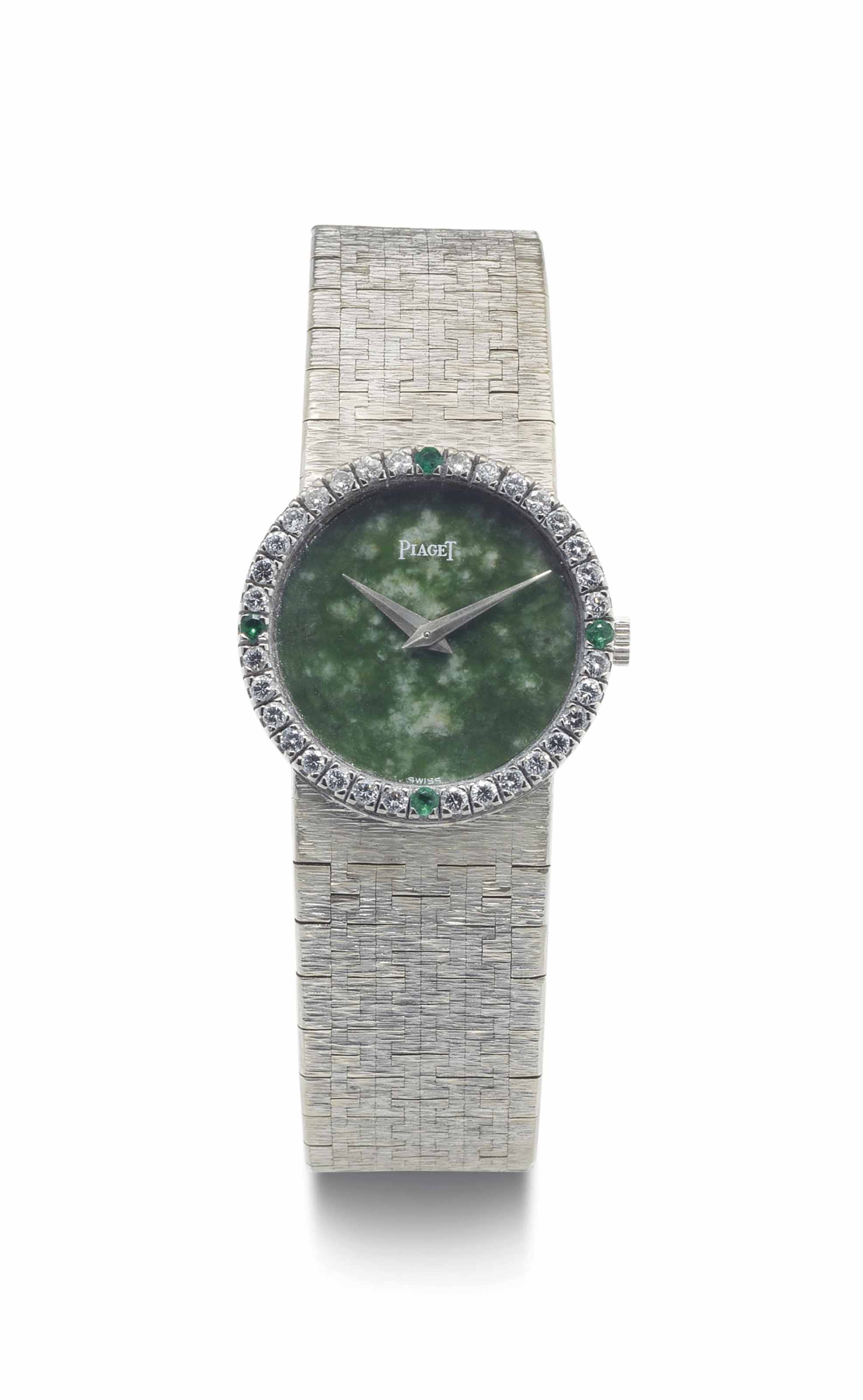 white bracelet marquise and jfw on watch with satin carpet gold a ethical timepiece emerald eye green chopard movement magazine baselworld spy at brilliant in show cut quartz emeralds watches
