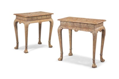 A PAIR OF ENGLISH GILT-GESSO S
