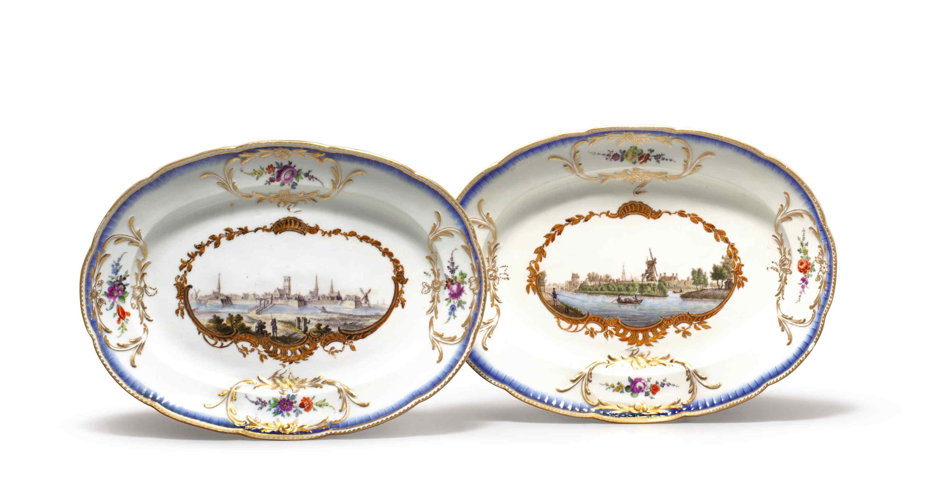 A PAIR OF MEISSEN PORCELAIN TO