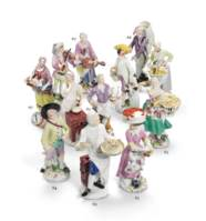 A GROUP OF THREE MEISSEN PORCE