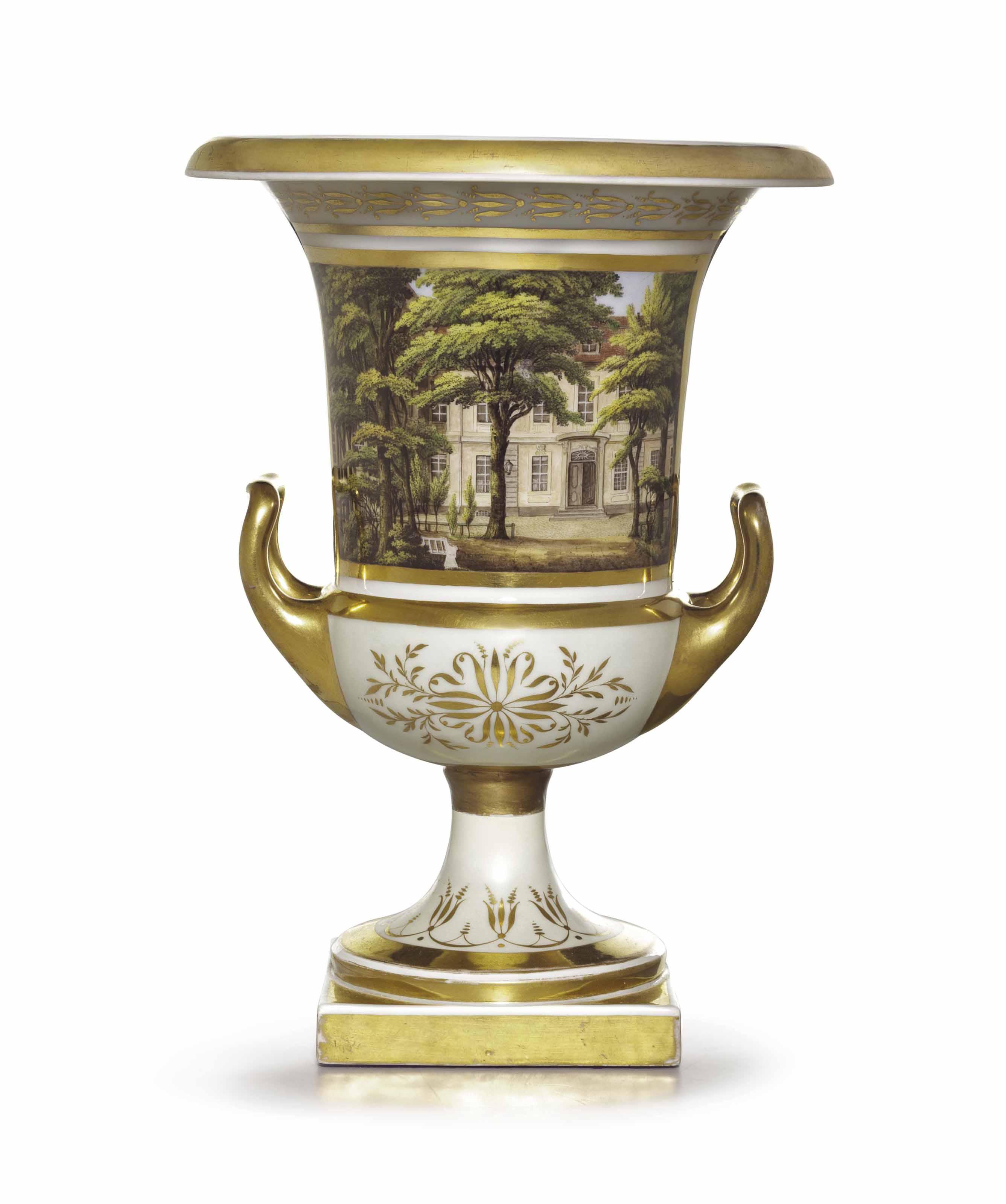 A BERLIN PORCELAIN GOLD-GROUND