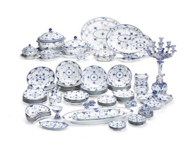 AN ASSEMBLED ROYAL COPENHAGEN