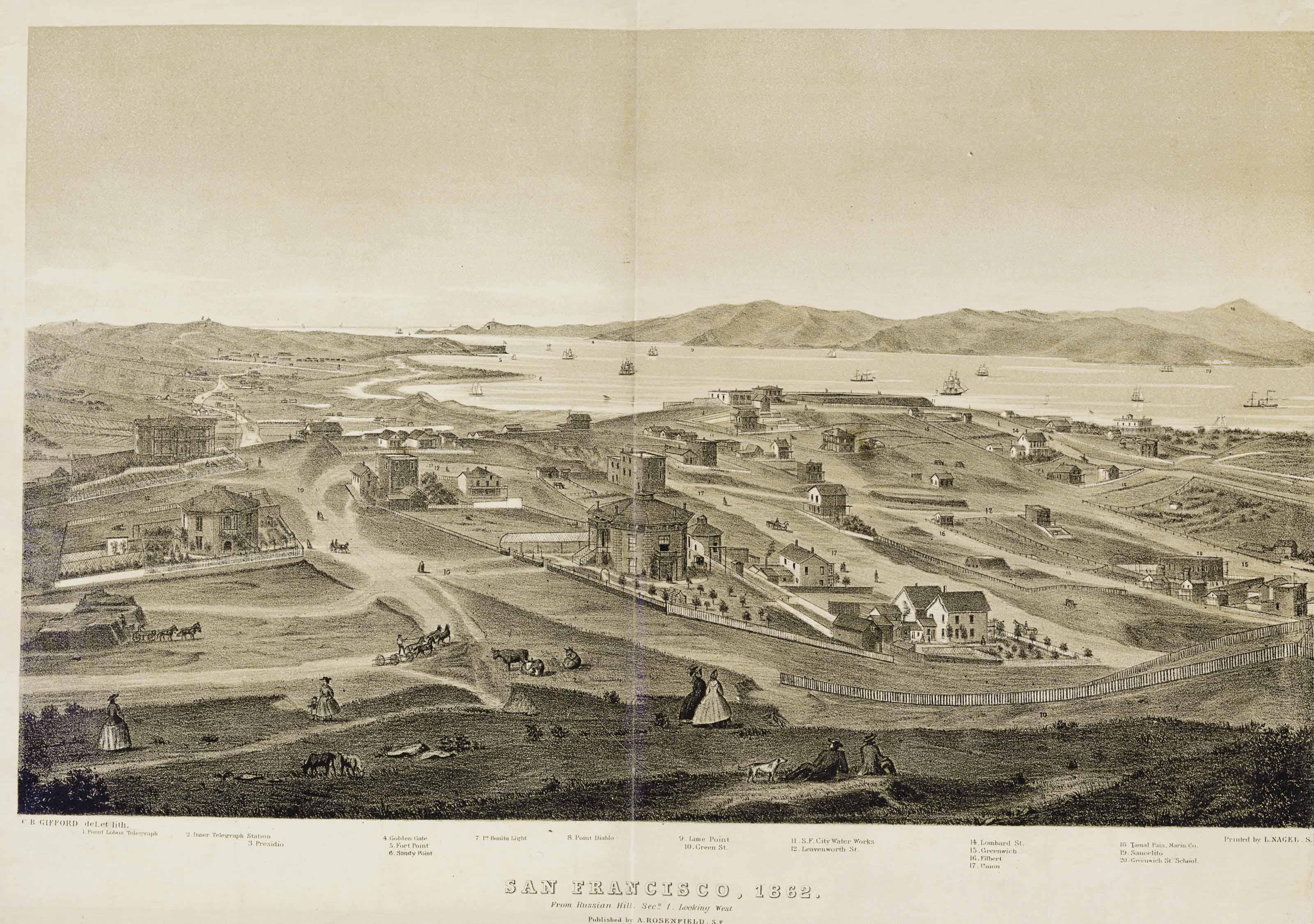 [SAN FRANCISCO]. GIFFORD, Char