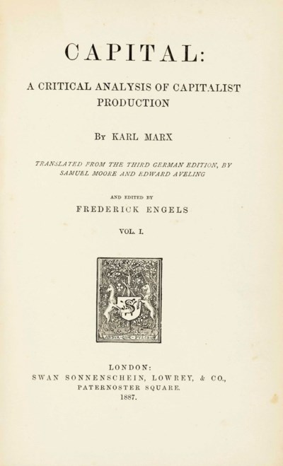 MARX, Karl (1818-1883). Capita