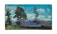 Twin Lakes, Colorado; and a companion painting of Aurora, Colorado