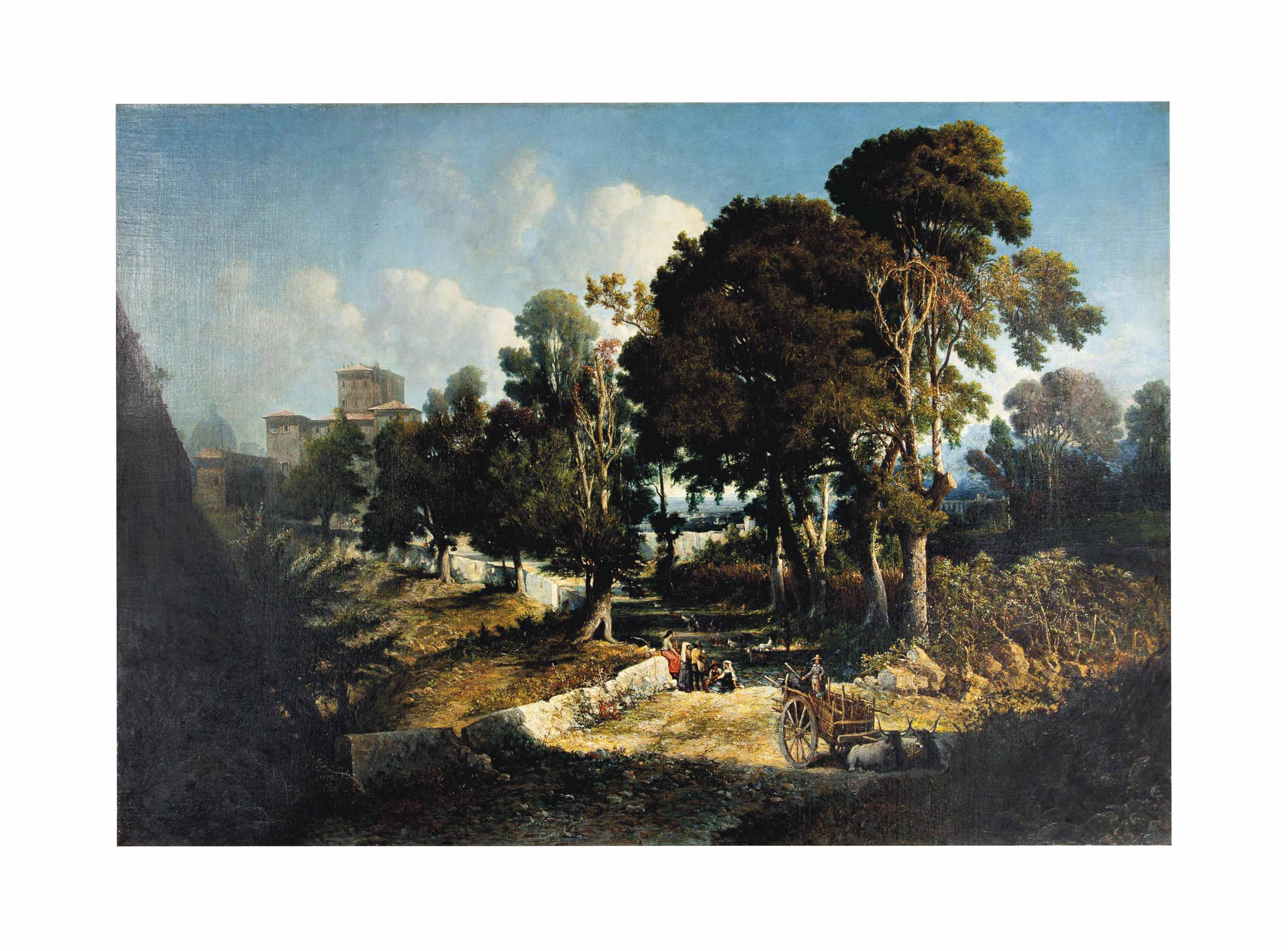 Effect near Noon-Along the Appian Way