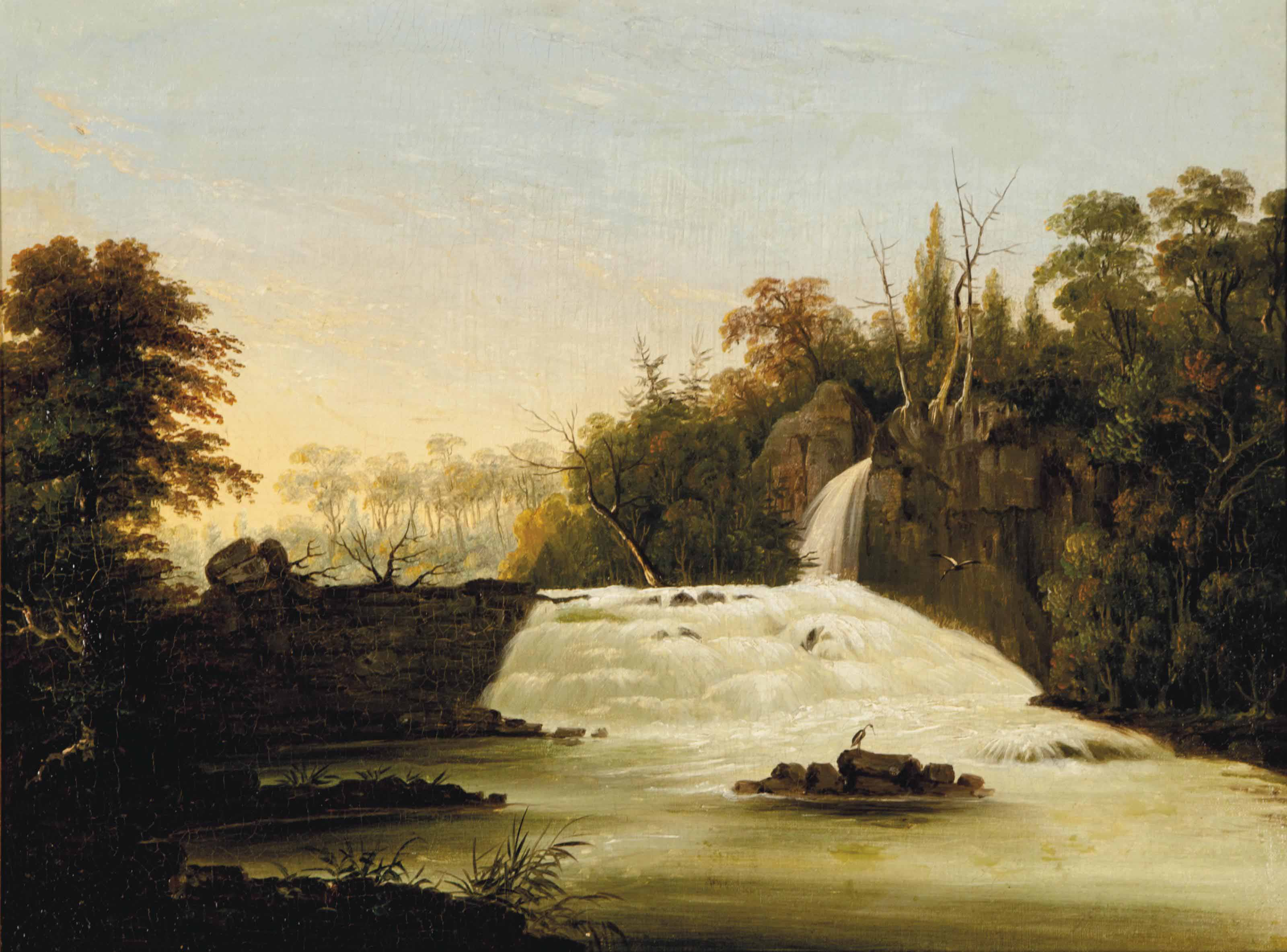 View of Passaic Falls, New Jersey