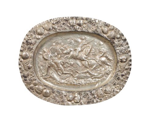 A CONTINENTAL SILVER REPOUSSE