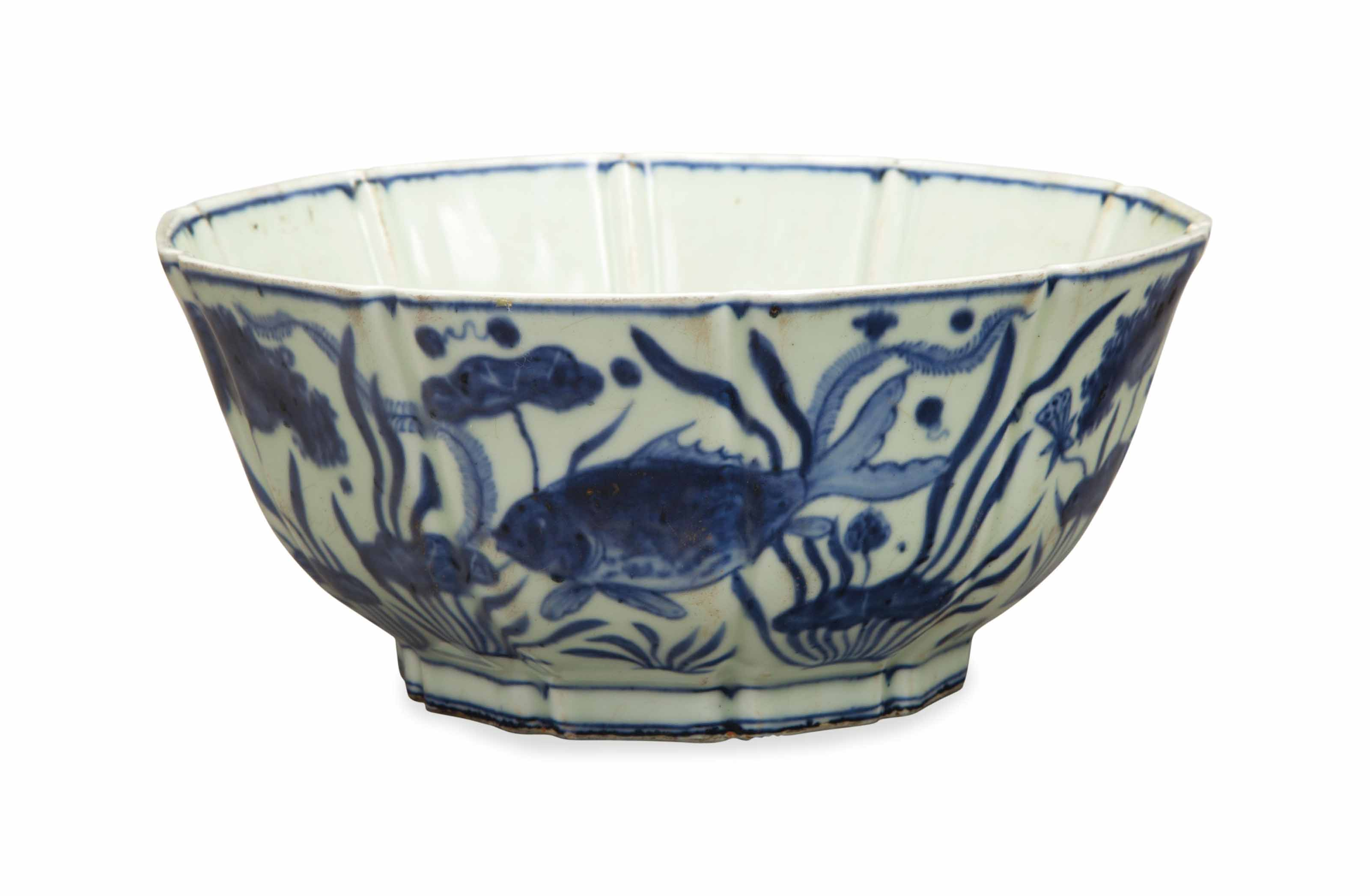 A CHINESE MING-STYLE BLUE AND